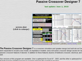 BAGBY PASSIVE CROSSOVER DESIGNER