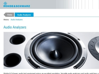 ROHDE AND SCWARTZ AUDIO ANALYZERS